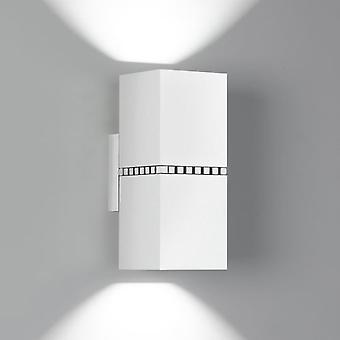 Milan Apply Led Double 2x10W White (Home , Lighting , Wall sconces)