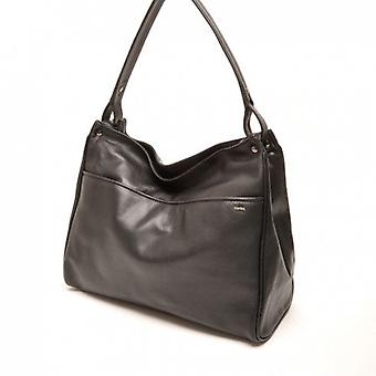Berba Leather Womens shoulder bag Soft 005-431-00 Black