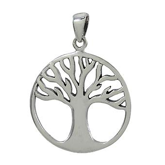Cutout Tree of Life Sterling Silver Pendant