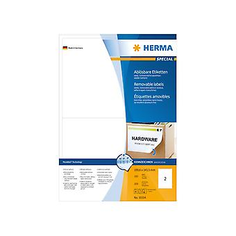 Labels white HERMA Movables 199, 6x143, 5 A4 200 pcs.
