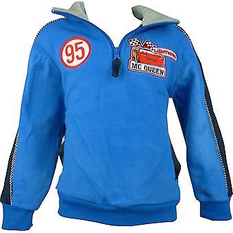 Gutter Disney biler Lightning McQueen Fleece halv Zip Sweatshirt