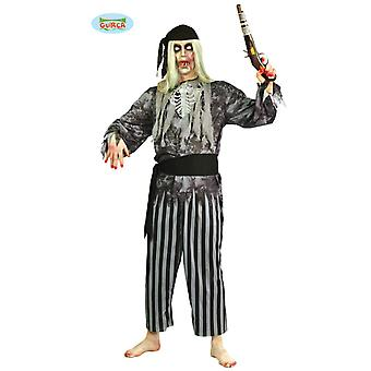 Zombie Pirate Costume pirate horror Halloween mens one size