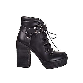 Forbudte Apparel Helena Buckle Platform Boot