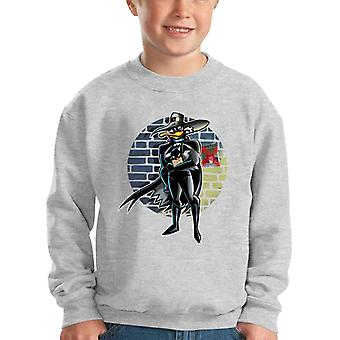 Batman Darkwing Duck Dangerous Is His Vengeance Kid's Sweatshirt