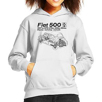 Haynes Werkstatt Handbuch Fiat 500 schwarze Kind der Kapuzen-Sweatshirt