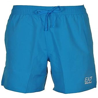 EA7 Emporio Armani Sea World Core Swim Shorts, Methyl Blue, Medium (50)