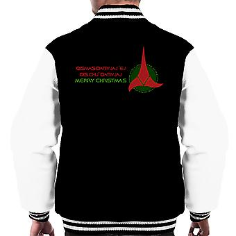 Klingon Christmas Star Trek menn Varsity jakke