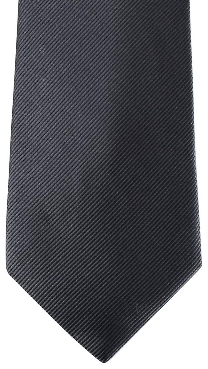 David Van Hagen Diagonal Ribbed Tie - Slate Grey