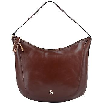 Ashwood Medium Veg garvet læder Hobo - Si 1267m - Chestnut/vt