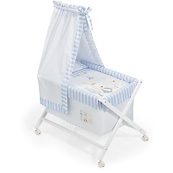Interbaby Honey minicuna canopied Baby Blue Rabbit Model