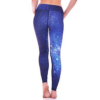 Mio aktive langen blauen Galaxie Yoga Hose MS16S6S