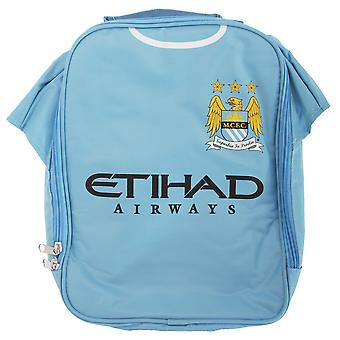 Manchester City FC Childrens Boys Official Insulated Football Shirt Lunch Bag/Cooler