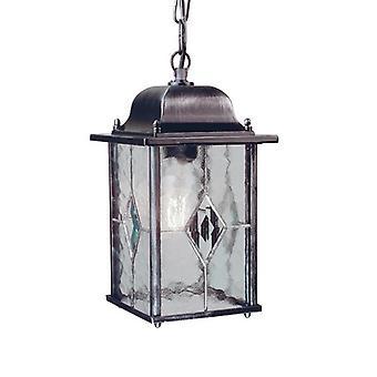 Elstead WX9 Wexford black/silver exterior chain lantern, IP43