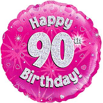 Oaktree 18 Inch Circle Happy 90th Birthday Foil Balloon