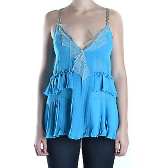 Twin set women's MCBI302003O light blue polyester tank top