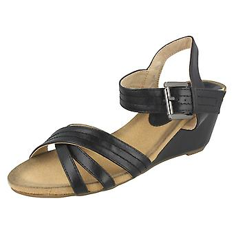 Ladies Eaze High Wedge Ankle Sandal