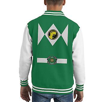 Geek Ranger Power Rangers Mix Kid's Varsity Jacket