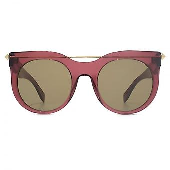 Alexander McQueen Piercing Bar Sunglasses In Brown