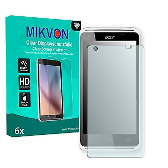 Acer Liquid Z410 Plus Screen Protector - Mikvon Clear (Retail Package con accessori)