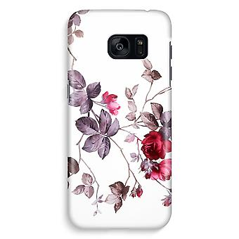 Samsung S7 Edge Full Print Case - Pretty flowers