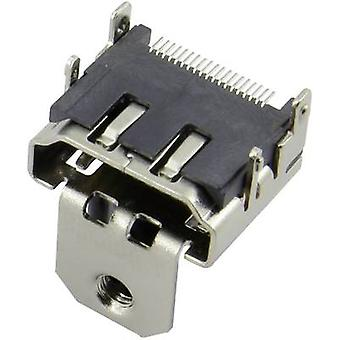 HDMI connector Socket, horizontal mount Silver Attend 206B-SEAN-R03 1 pc(s)