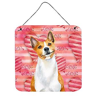 Carolines Treasures  BB9779DS66 Basenji Love Wall or Door Hanging Prints
