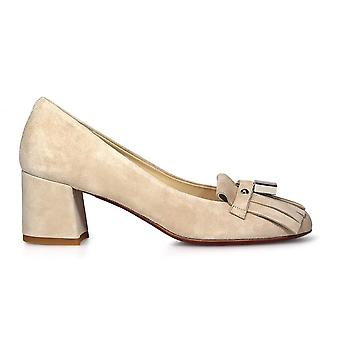 Franco Colli ladies FC451BEIGE beige suede pumps