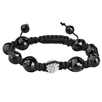 Unisex bling Shamballa Onyx bracelet - DISCO BALL black