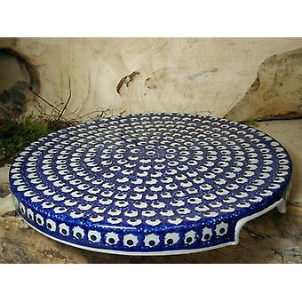 Pie plate, 2. choice, Ø 33 cm, 80 - traditional polish pottery - BSN 22698