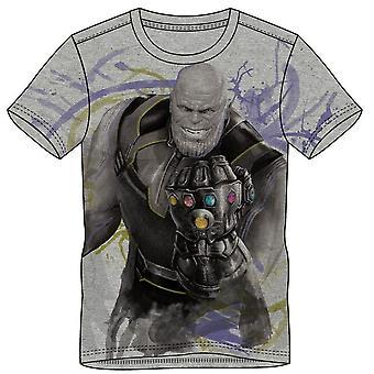 Marvel tegneserier Avengers Infinity krigen Herre Thanos T-Shirt ekstra store grå