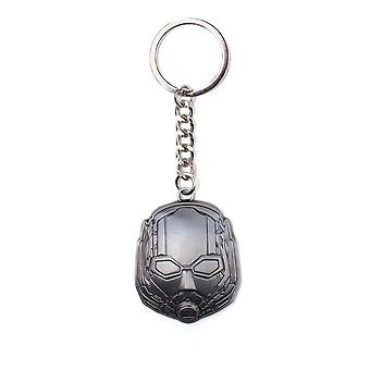 Marvel Comics Ant-Man and The Wasp Helmet Metal Pendant Keychain Silver Grey