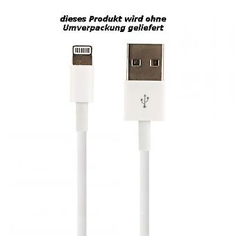 Original Bulk Apple MD818ZM/A Lightning Ladekabel, iPhone 5 / 5s / SE, 2x Matt Displayschutzfolie