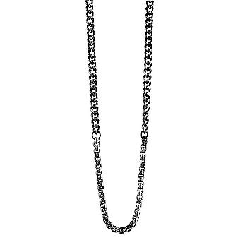Guess men's chain necklace stainless steel black UMN21531