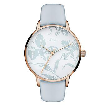 s.Oliver Damen Uhr Armbanduhr Leder SO-3469-LQ
