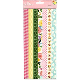 Tealightful Washi Tape Strip Sheets 3/Pkg
