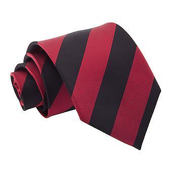Burgund & schwarz gestreift klassische Krawatte