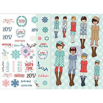 Julie Nutting Planner Monthly Stickers 2/Pkg-January