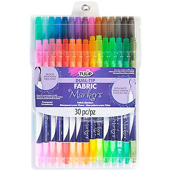 Tulip Dual Tip Fabric Markers 30/Pkg-Assorted
