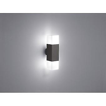 Trio verlichting Hudson moderne antraciet Diecast Aluminium wand Lamp