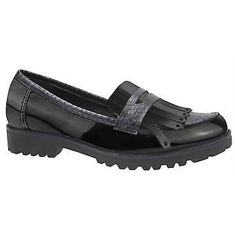 Ladies Womens Apron Saddle Slip On Hi Shine Casual Smart Office Shoes