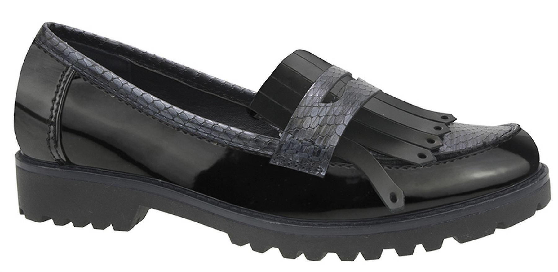Slip Casual Womens Office Shoes Smart Saddle Hi On Ladies Apron Shine qUtwxSTx