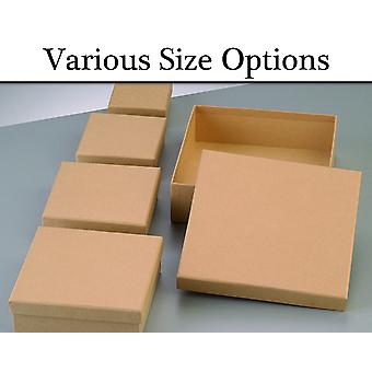 Paper Mache Square Flat Boxes with Lids to Decorate