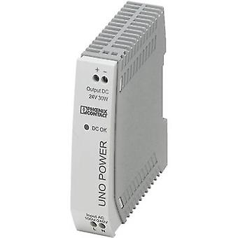 Rail mounted PSU (DIN) Phoenix Contact UNO-PS/1AC/24DC/30W 24 Vdc 1.25 A 30 W 1 x