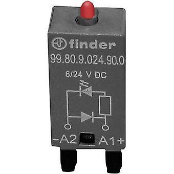 Plug-in module + flyback diode, + LED 1 pc(s) Finder 99.80.9.024.90.0 Light colour: Red Compatible with series: Finder 94 series, Finder 95 series Compatible
