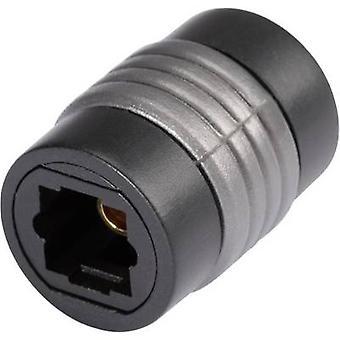 Adaptador de Audio Digital Toslink HICON [1 x Toslink el enchufe (ODT) - 1 x Toslink (ODT)] 0 m negro