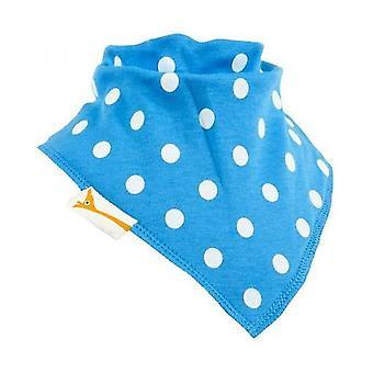 Babero bandana de manchas de azul & blanco