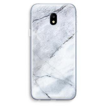 Samsung Galaxy J3 (2017) Transparent Case (Soft) - Marble white