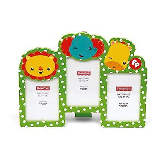 Cuadro verde marco 3 madera Fisher-Price