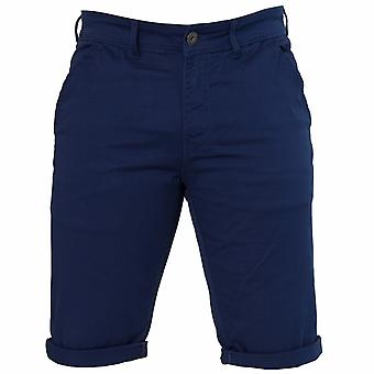 Mens Blue Slim Fit Stretch Chino Shorts | Enzo Designer Menswear