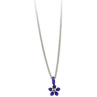 TI2 titane cinq petits pétales fleur pendentif - Imperial Purple
